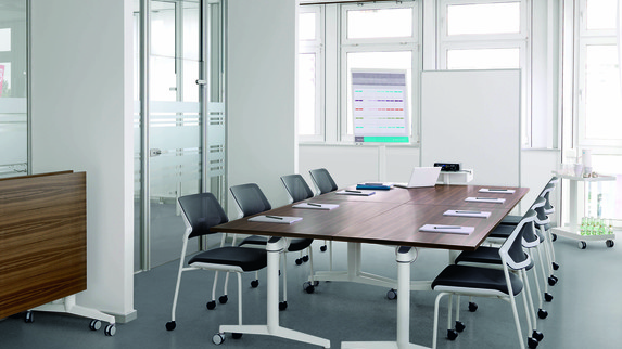 FlipTop Twin meeting table