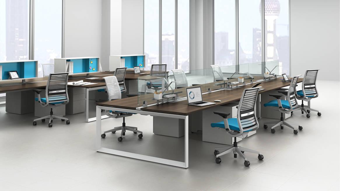 FrameOne Bench Desk Office Workstations