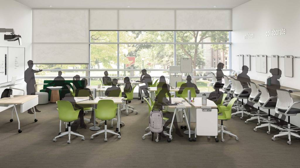 Modern University Classroom Design : Class can i have your attention active learning spaces
