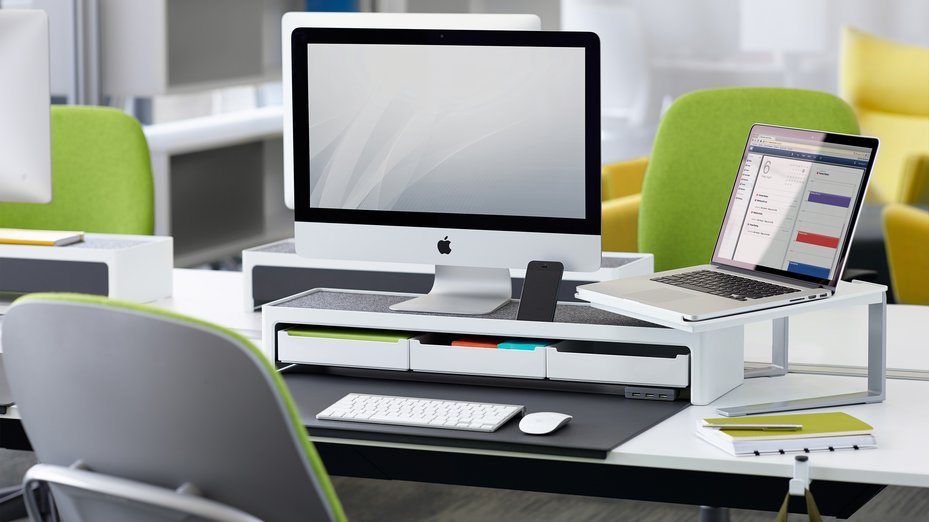 soto ii desk office organization and power accessories