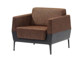Brown Visalia Lounge Armchair