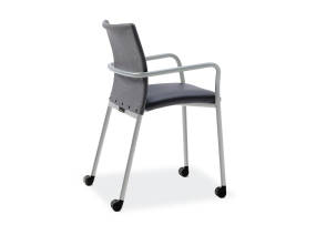 Jersey Guest Chair with casters