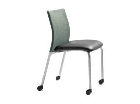 Jersey Guest chair with casters armless