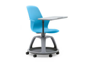 Node Chair U2013 Tripod Base With Worksurface + Casters