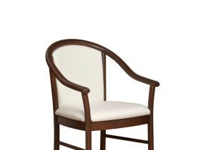 Alcove Guest Chair with White Cushion