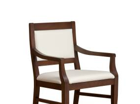 Topaz Open Back Guest Chair with White Cushion
