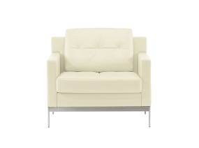 White Millbrae Lifestyle Lounge Armchair on white background