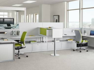 Answer workstation with Amia office chairs