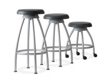 3 Verge stools with and without casters of different heights