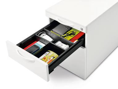 Schubladeneinsatz Schreibtisch steelcase implicit rolllcontainer und anstellcontainer