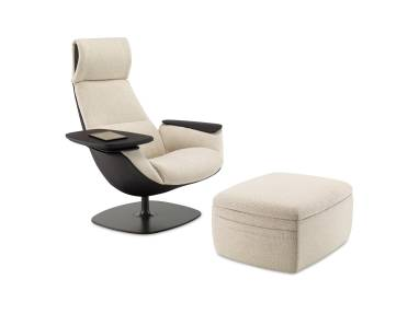 Massaud Lounge Seating and Ottoman