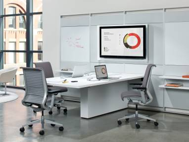 FlexFrame workwall in collaborative workspace