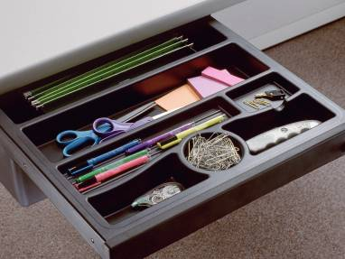 Pelican Pencil Drawer with assorted desk tools