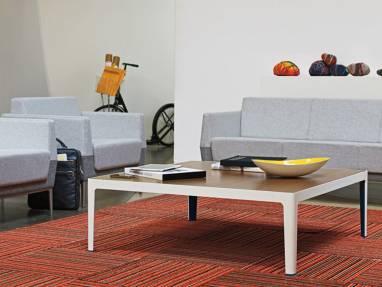Light Grey Visalia Lounge Sofa with Two Visalia Lounge Armchairs and coffee table