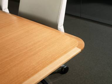 Close-Up of a corner of a Host Meeting Table