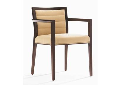 Brown Wood Frame and Cream Fully Upholstered Back Kathryn Guest Chair
