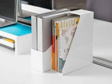 SOTO Diagonal Box holding books on desk