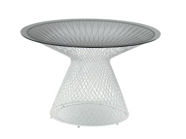 White Emu Heaven Table with Glass Table Top