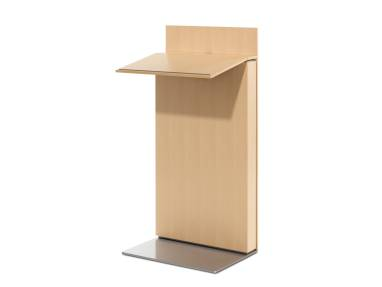Exponents Lectern with a light wood finish