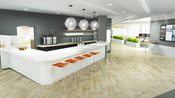Kitchen Remodeling Design Ideas Inspiration: Office Cafeteria Ideas & Breakout Area Designs