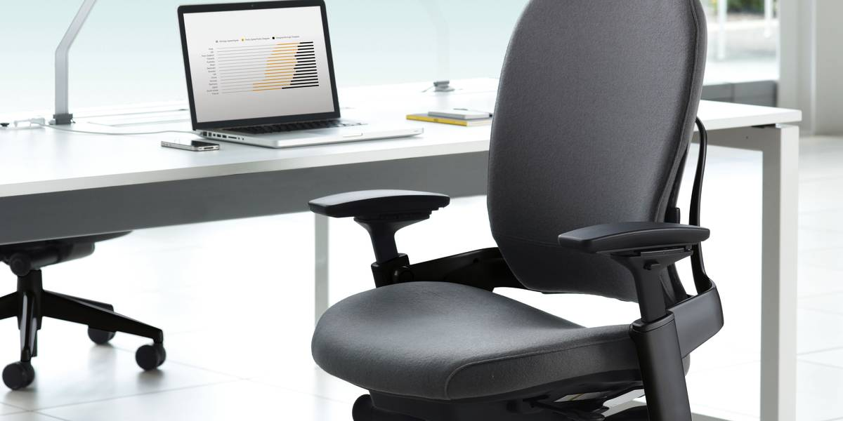 Leap ergonomic adjustable office chairs steelcase - Steelcase leap ergonomic office chair ...