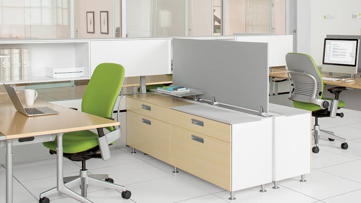Leap office chair by Steelcase at c:scape office bench