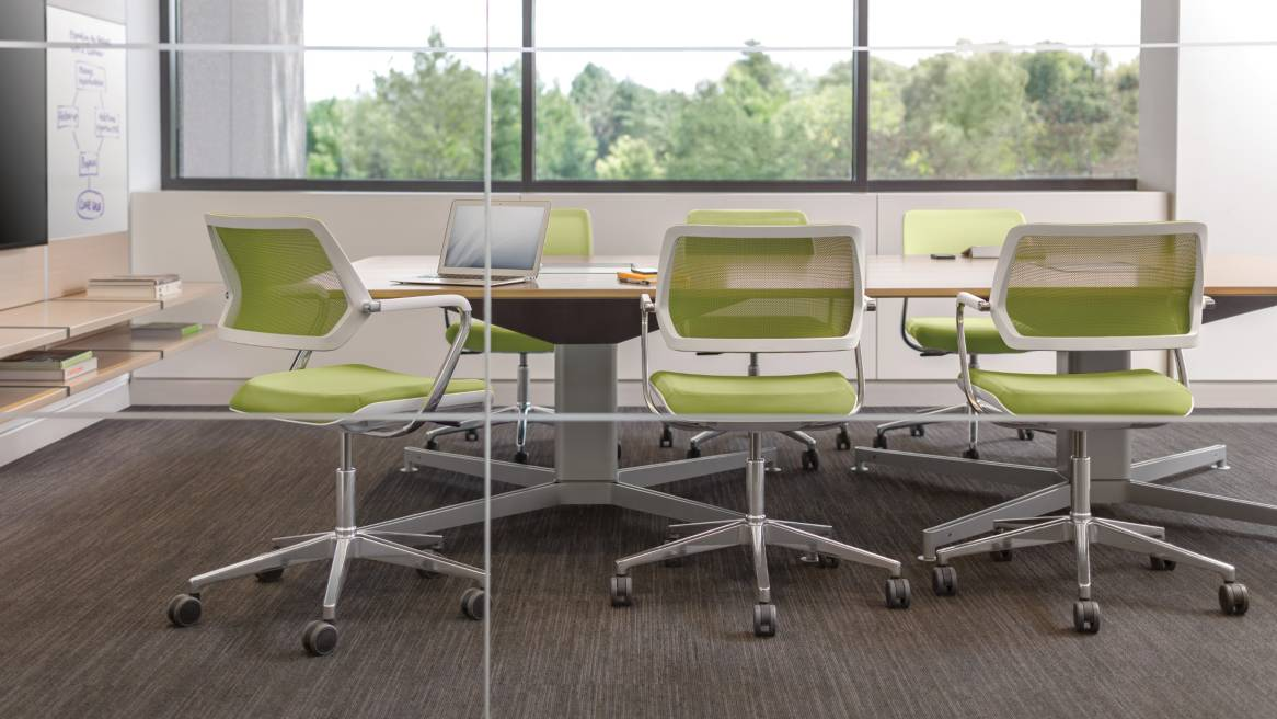 QiVi Collaborative Chairs in a conference room