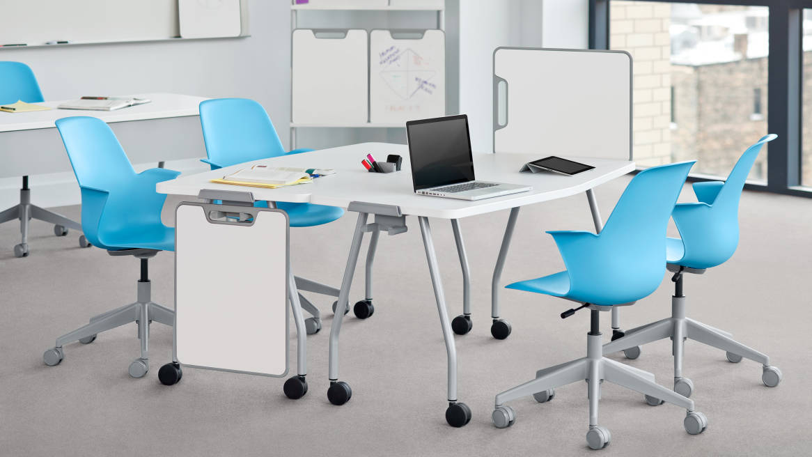 Modern Classroom Tables : Node desk chairs classroom furniture steelcase