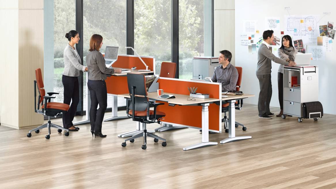 Ology Ergonomic Adjustable Office Desk Steelcase