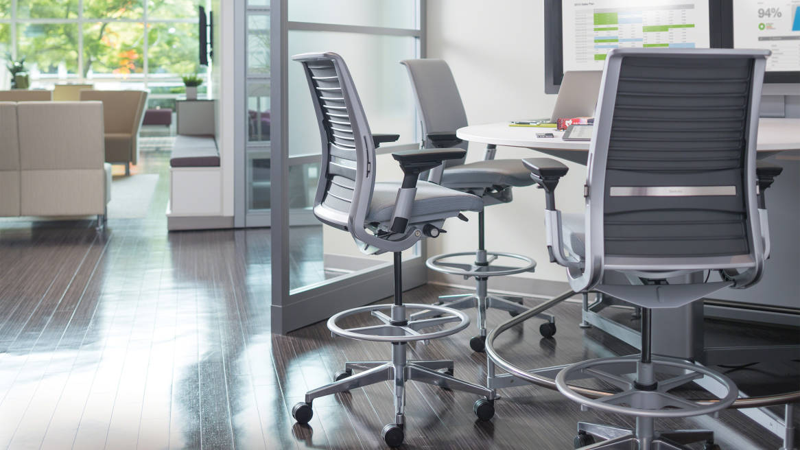 think ergonomic adjustable office chair steelcase