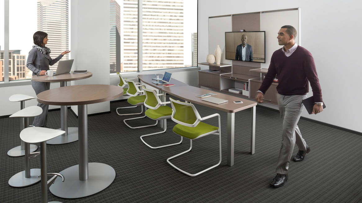 Convene Meeting Room Conference Tables Steelcase - Gray conference table