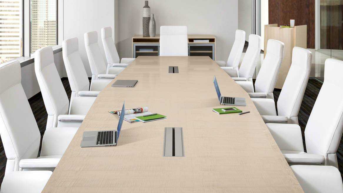 Convene Meeting Room Conference Tables Steelcase - 18 foot conference table