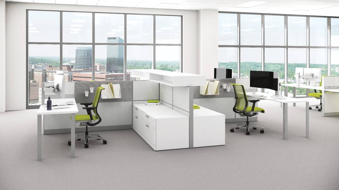 Office Interior Design Workstation Panel And Desking