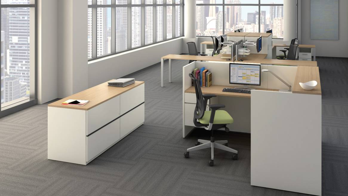 Payback Storage unit in open office space setting