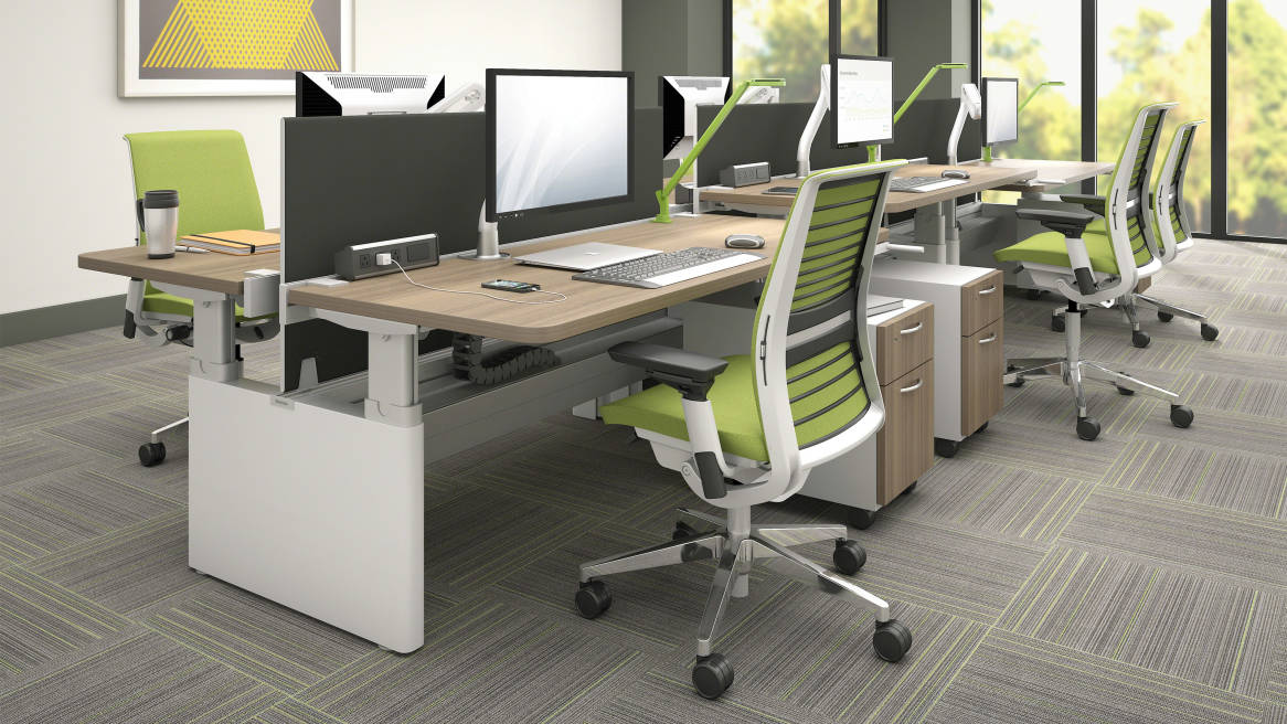 Series Height Adjustable Office Benches Amp Tables Steelcase