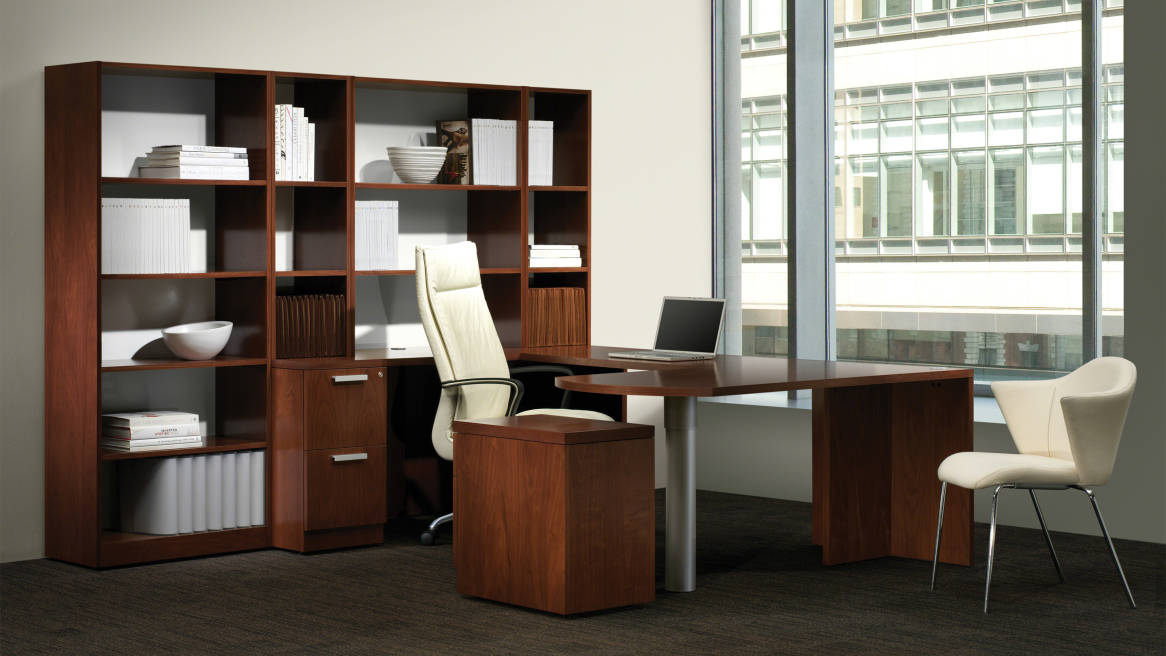Walden Desk and Storage Casegoods in Private office setting