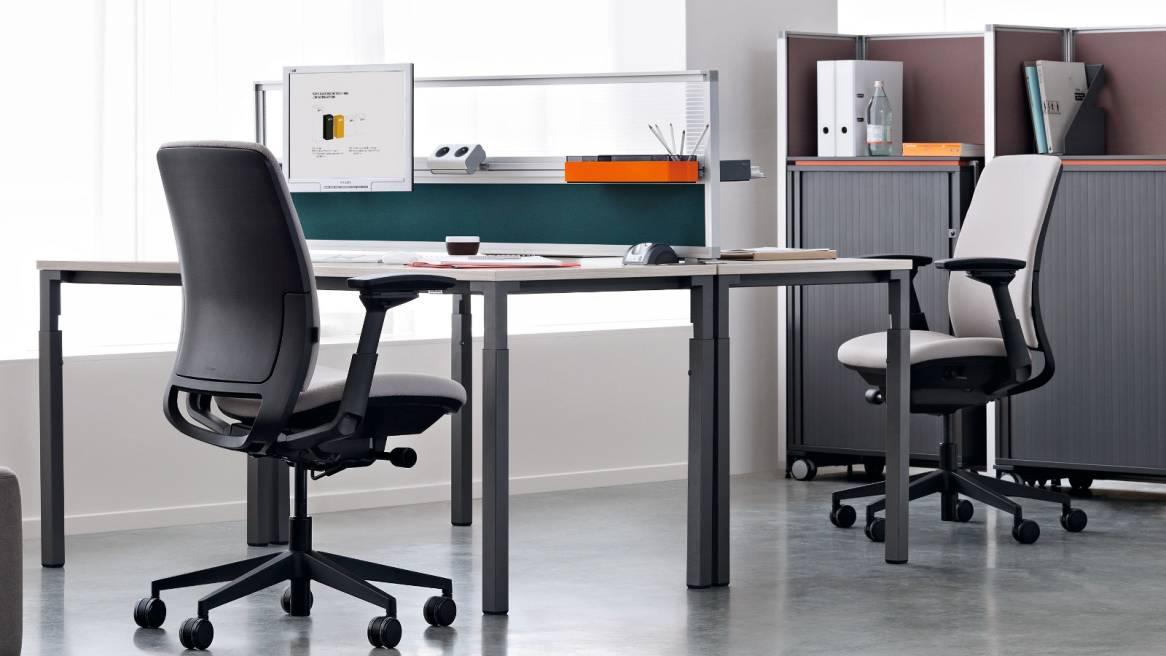 amia b rostuhl ergonomischer b rodrehstuhl von steelcase. Black Bedroom Furniture Sets. Home Design Ideas