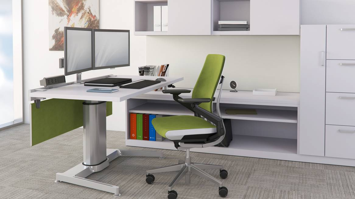 Airtouch Standing Desk Amp Seated Workspace Steelcase