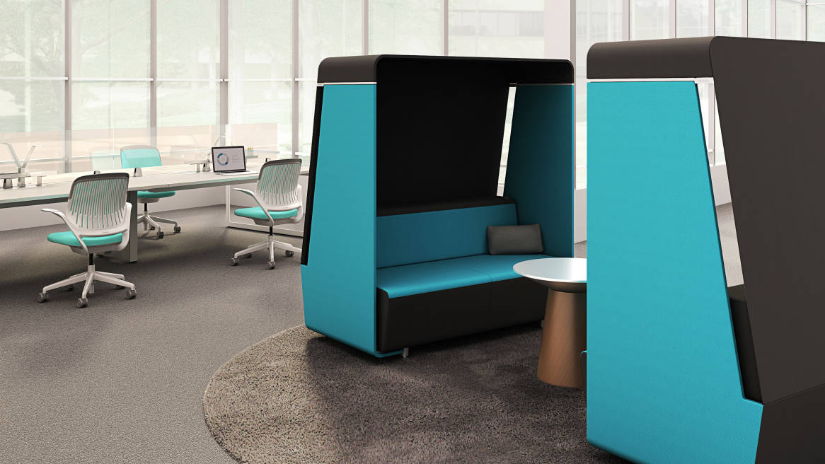 Media Scape Lounge With Hood Steelcase