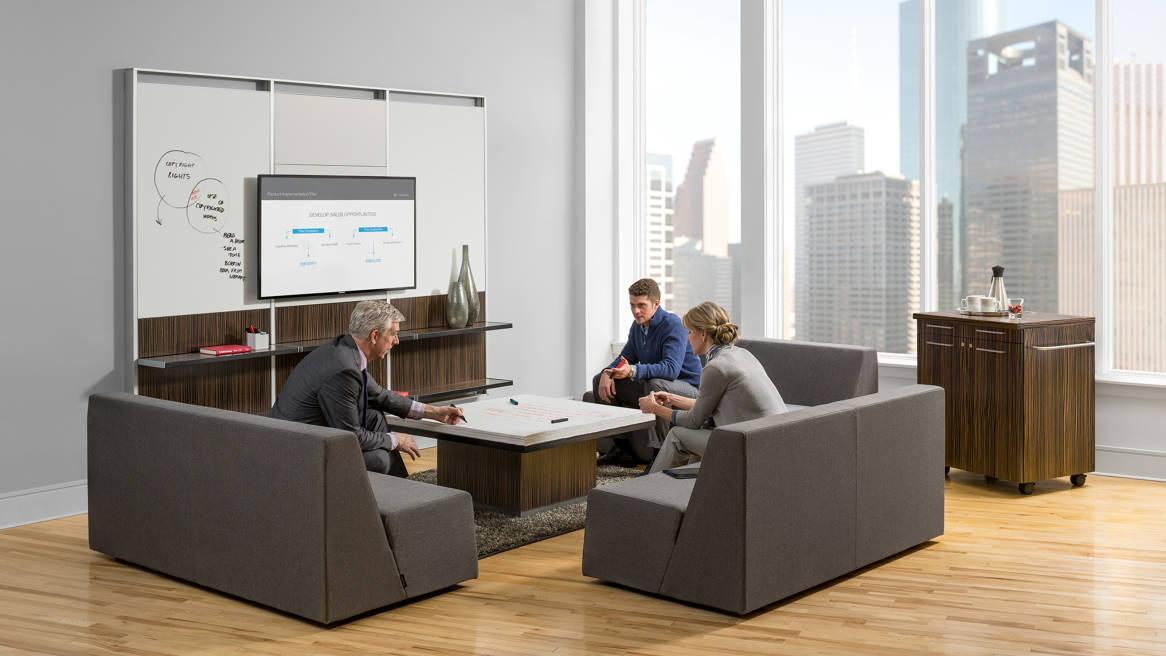 FlexFrame Workwall + Convene Table