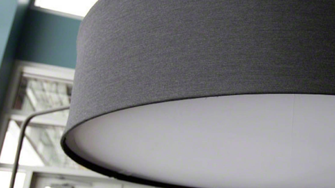 Close up on fabric of Gray Campfire Big Lamp