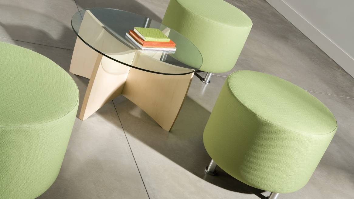 Turnstone Alight Modern Ottomans Steelcase