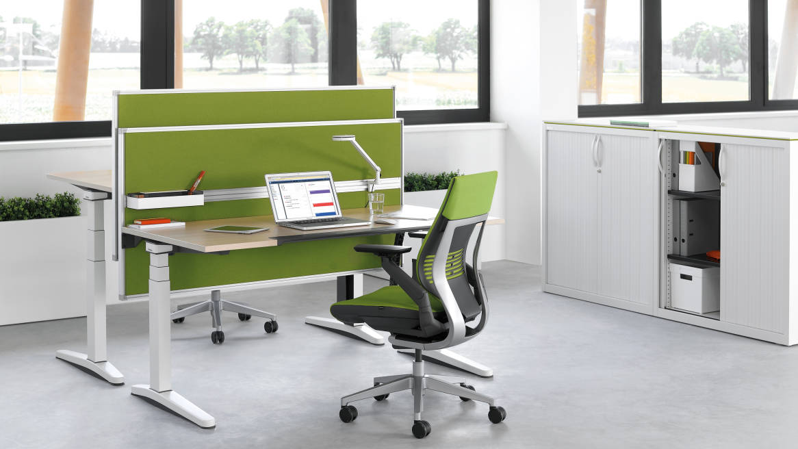 Universal Storage Cupboard, Gesture Office Chair, Partito Rail