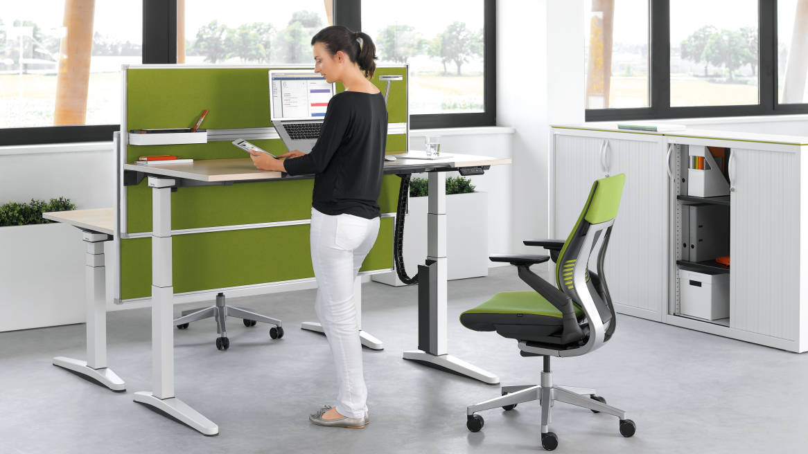 Universal Storage Cupboard, Gesture Office chair, Partito Screen