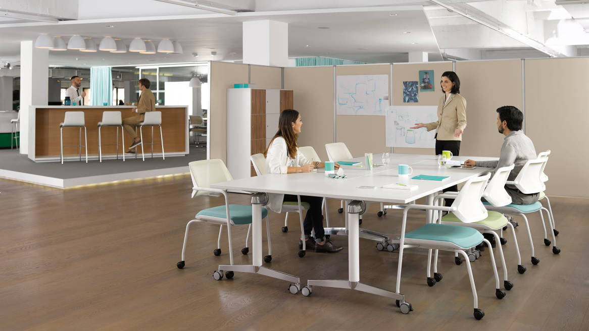 FlipTop Twin Meeting amp Training Room Table Steelcase