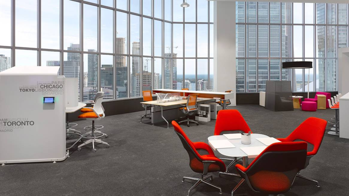 Accenture relocation aids collaboration steelcase for Accenture toronto office