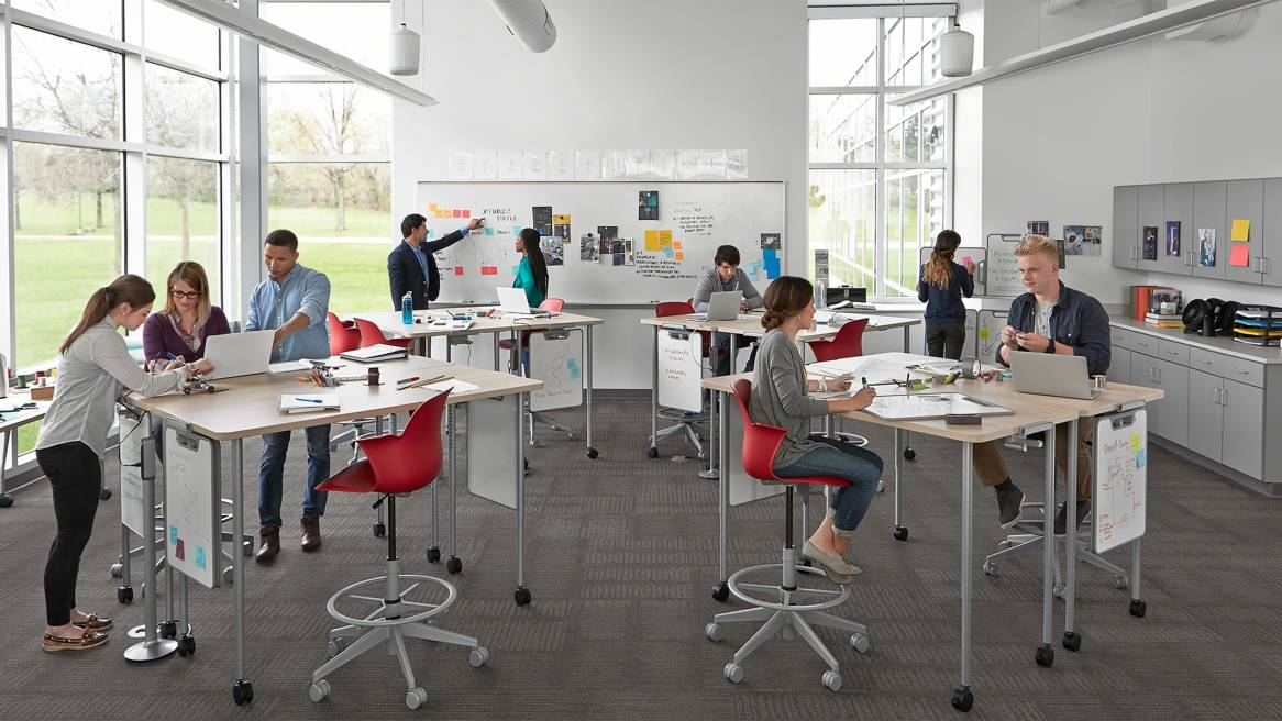 Classroom Design For Discussion Based Teaching : Verb classroom furniture whiteboards steelcase