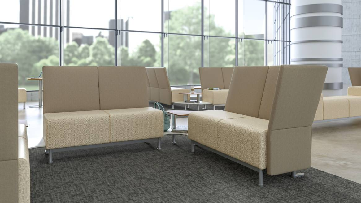 neighbor waiting room lounge seating steelcase health