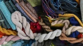close up to fabrics