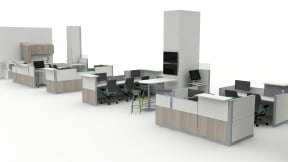 Convey Modular Casework, Montage Panel Systems, Verge, Exchange Table, Amia chair, Pocket Table, Universal Storage, Volley Planning Idea
